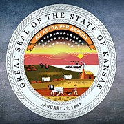 Kansas State Seal Print by Movie Poster Prints
