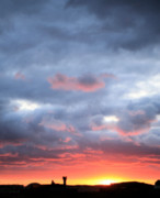 Air Traffic Control Prints - Kansas Sunset Print by JC Findley