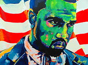 Kanye West Painting Prints - Kanye West 1.0 Print by Miss Anna Hall