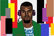 Kanye West Digital Art - Kanye West- Colours by Mudiama Kammoh