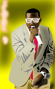 African-american Digital Art Prints - Kanye West Print by Michael Chatman