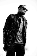 Pop Music Framed Prints - Kanye West Framed Print by Sanely Great