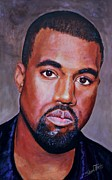 Singer Paintings - Kanye West by Shirl Theis