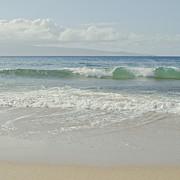 Kapalua Blue Surf Print by Sharon Mau