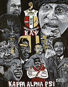 Fraternity Painting Prints - Kappa Print by Timothy Giles