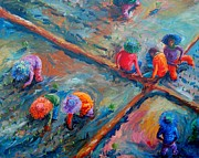 Rice Field Paintings - Kapuy by Paul Hilario