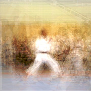 Action Sport Arts Prints - Karate Print by Tomasz Wieja