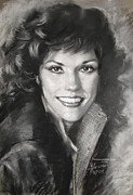 Drummer Drawings Metal Prints - Karen Carpenter Metal Print by Viola El