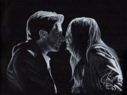 Williams Drawings Prints - Karen Gillan and Arthur Darvill Print by Rosalinda Markle