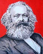 Marxism Framed Prints - Karl Marx Framed Print by Victor Minca