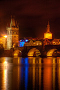 Charles Bridge Prints - Karluv Most 2-Prague Print by John Galbo