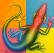 Peter Max Paintings - Karma Chameleon by Darren Robinson