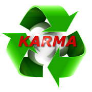 Recycle Painting Prints - Karma Print by Maxx Phoenixx