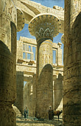 Carvings Prints - Karnak Print by Richard Phene Spiers
