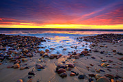 Pebbles Metal Prints - Karrara Sunset Metal Print by Bill  Robinson