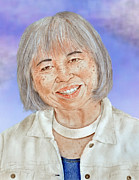 Smiling Mixed Media - Karyl Matsumoto Mayor of So San Francisco Version II by Jim Fitzpatrick