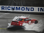 Sponsor Framed Prints - Kasey Kahne-First Win at Richmond Framed Print by Paul Kuras