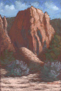 Santa Fe Pastels Originals - Kasha-Katuwe by Mary Olivera