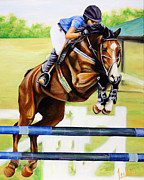 Kentucky Derby Prints - Kassius Print by Teshia Art