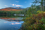Pond In Park Prints - Katahdin at Round Pond Print by Susan Cole Kelly