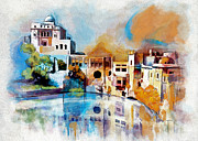 Miniature Paintings - Katas Raj Temple by Catf