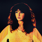 Pink Floyd Posters - Kate Bush Poster by Paul  Meijering
