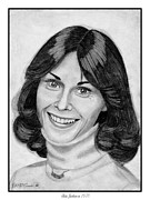 Star Drawings Framed Prints - Kate Jackson in 1976 Framed Print by J McCombie