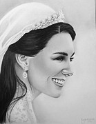 Cambridge Drawings - Kate Middleton by Crystal Rosene