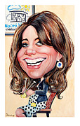 Duchess Of Cambridge Drawings Prints - Kate Middleton. Duchess of Cambridge Print by Daniel Byrne
