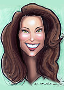 Kate Middleton Painting Metal Prints - Kate Middleton Metal Print by Kevin Middleton