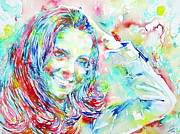 Kate Middleton Painting Prints - Kate Middleton Portrait.1 Print by Fabrizio Cassetta