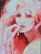 Neon Effects Painting Originals - Kate Moss by Shirl Theis