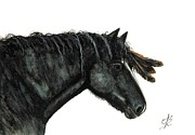 Native-american Prints - Katee Majestic Mustang Series 64 Print by AmyLyn Bihrle