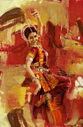 Dancer Art Painting Posters - Kathak Dancer 6 Poster by Catf