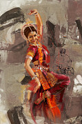 Dancer Art Painting Posters - Kathak Dancer 7 Poster by Catf