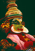 Story Telling Art Framed Prints - Kathakali Dancer Framed Print by Eva Kato
