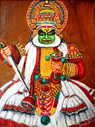 Kerala Paintings - Kathakali by Saranya Haridasan