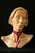 Portrait Sculpture Sculpture Prints - Katherine Print by Flow Fitzgerald