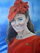 Kate Middleton Painting Originals - Katherine by Sasha Alexandra Art