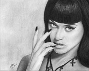 Katy Perry Drawings - Katy Perry 001 by Mandy Boss