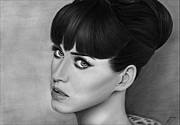 Katy Perry Drawings - Katy Perry 002 by Mandy Boss