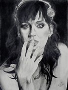 Katy Perry Drawings - Katy Perry by Raymond Perez