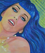 Singer  Paintings - Katy Perry by Shirl Theis