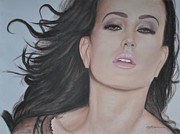 Celebrities Pastels Metal Prints - Katy Metal Print by Wade Starr