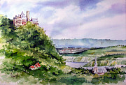 River Rhine Prints - Katz Castle Print by Sam Sidders