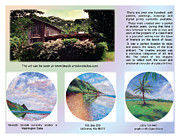 Tropical Digital Art - Kauai Art Brochure Spread 2 by Kenneth Grzesik
