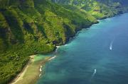 Featured Prints - Kauai Mountain and Sea Print by Kicka Witte