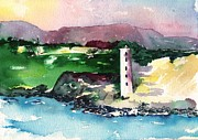 Kauai Artist Paintings - Kauai Nawiliwili Hawaii Lighthouse by Sharon Mick