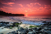 Sam Amato Prints - Kauai Shipwreck Beach Sunrise Print by Sam Amato