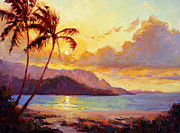 Tropics Paintings - Kauai Sunset by Jenifer Prince